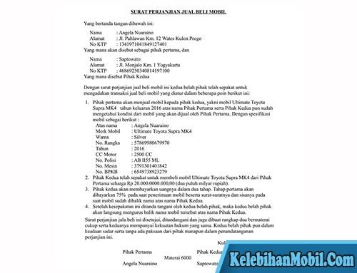 Surat Perjanjian Dengan Angsuran